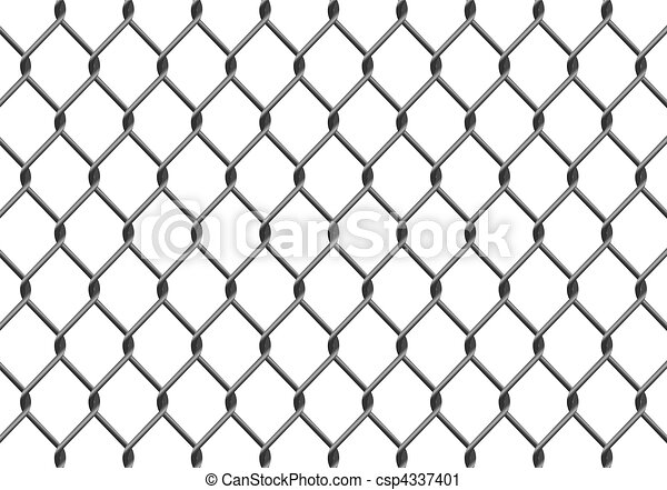 Chain Link Fence Drawing vector clip art of chain link fence - illustration of a chain link