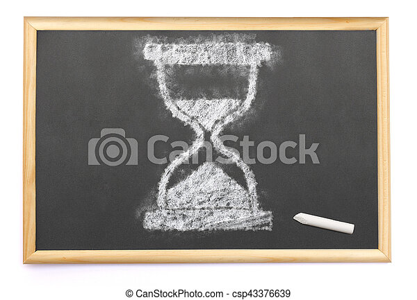 Sanduhr gezeichnet  Stockfotos von tafel, chalk.(series), sanduhr, gezeichnet ...