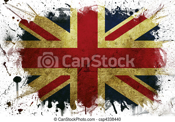 Great Britain flag paint - csp4338440