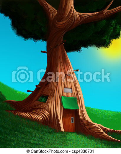 The house in a tree - csp4338701