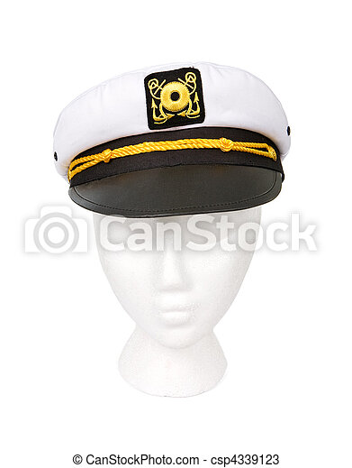 Yacht Captain Hat Isolated with a Clipping Path - csp4339123