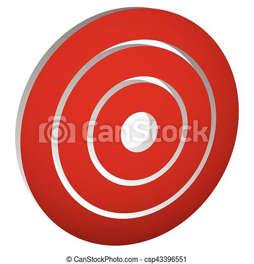 blanco, anillos, /, marca, círculos, concéntrico, (bullseye), icono - csp43396551