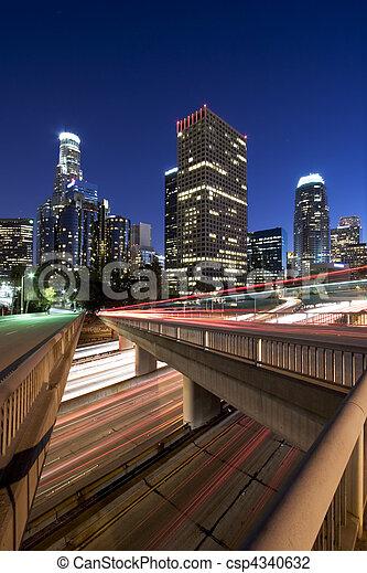 LA Sunset rush hour - csp4340632