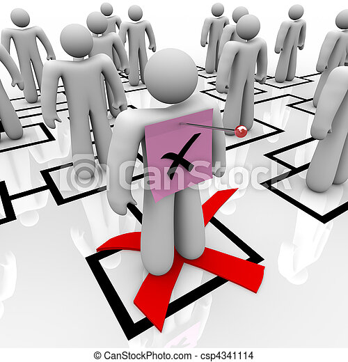 Pink Slip - Organizational Chart - csp4341114