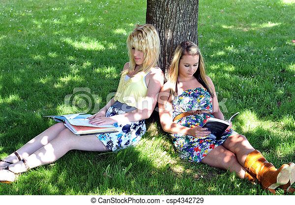 sit under shade tree