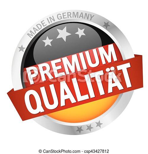 Button with Banner PREMIUM QUALITÄT - csp43427812