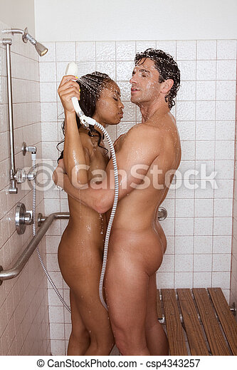 Kissing whilst naked in the shower