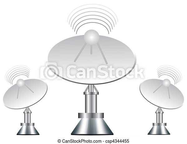 Vector illustration of antenna - csp4344455