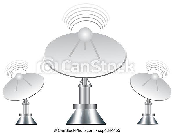 Vector illustration of antenna - csp4344455