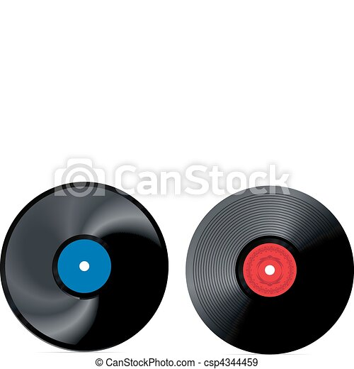retro vinyl record - vector  - csp4344459