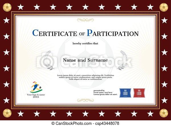 Vectors Illustration Of Sport Theme Certificate Of Participation