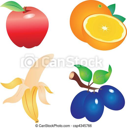 Fruit vector  - csp4345766