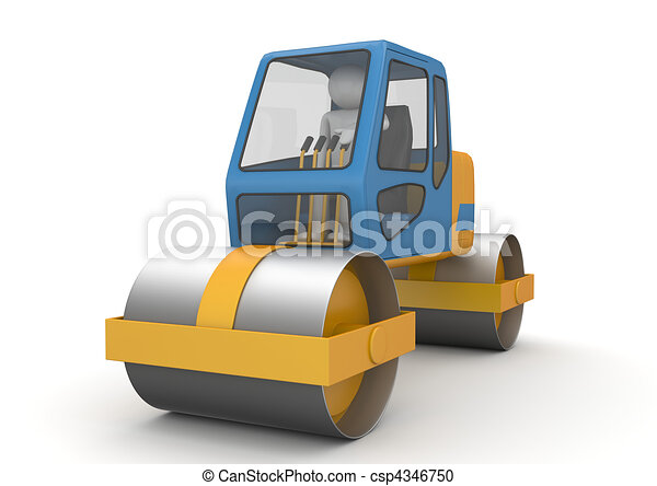Road roller - Workers collection - csp4346750