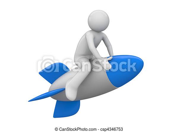 Rocket flyer - csp4346753