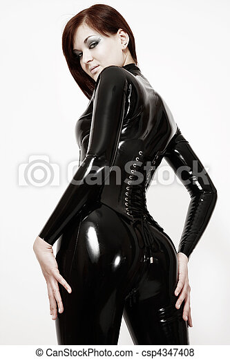Sexy girl in latex - csp4347408