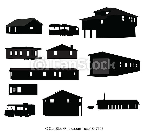House Silhouettes - csp4347807