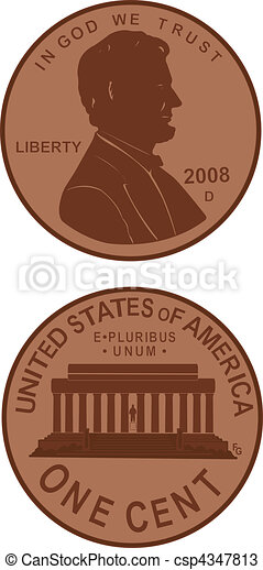 Penny Silhouette - csp4347813
