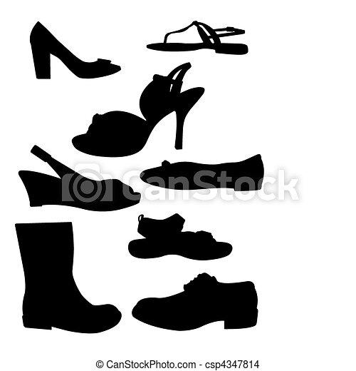 Siluetas, zapato - csp4347814