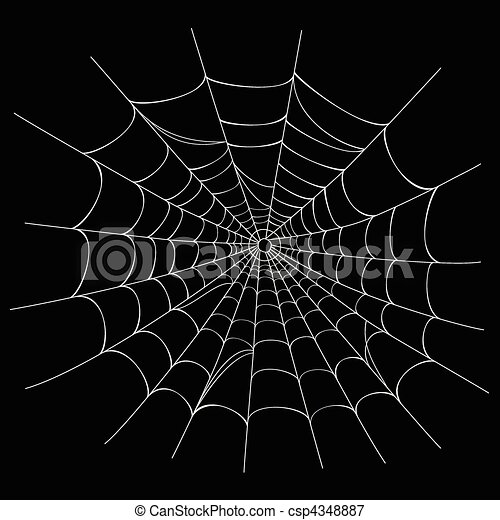 Web Spider Vector Vector Spider Web on Black