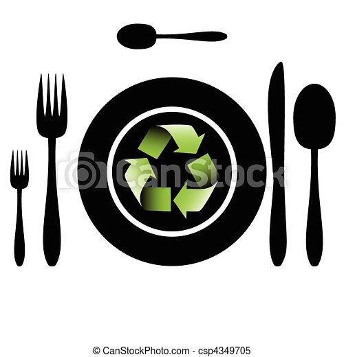 Bio food-Recycle - csp4349705