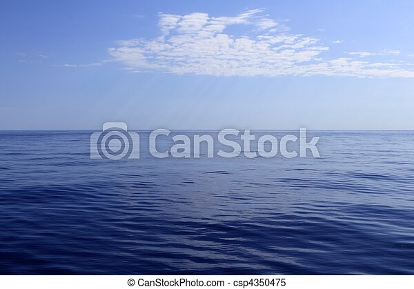 blue sea horizon ocean perfect in calm - csp4350475