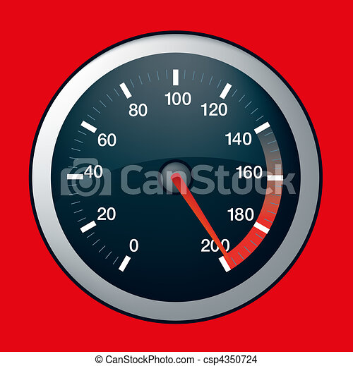 car speed dial on maximum - csp4350724