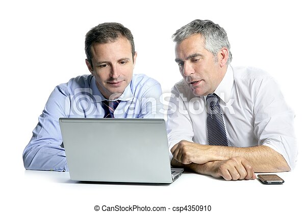 expertise businessman team working computer - csp4350910