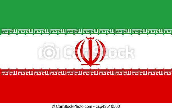flat iranian flag - csp43510560
