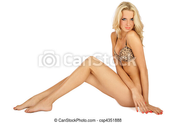 Sexy tanned blonde - csp4351888