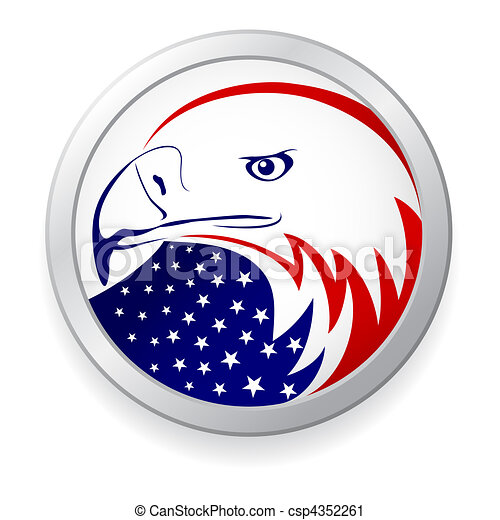eagle with American flag  Eagle With Flag Clip Art