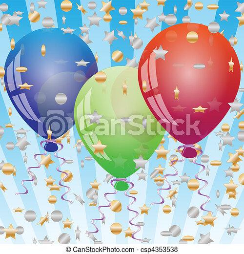 Celebration background with balloon - csp4353538