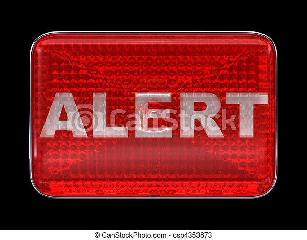 Alert button or headlight isolated - csp4353873
