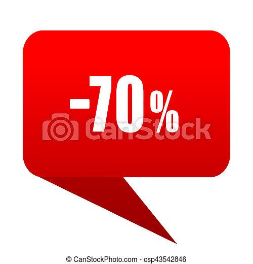 70 percent sale retail bubble red icon
