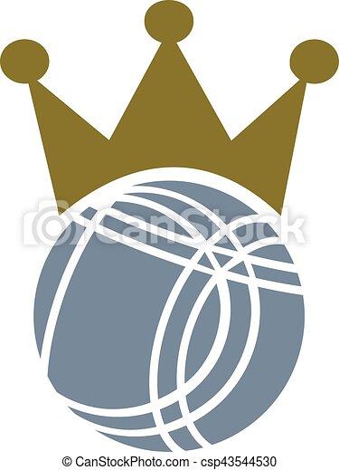 Bocce Ball Crown - csp43544530