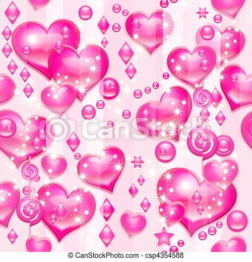 Valentines pink hearts - csp4354588
