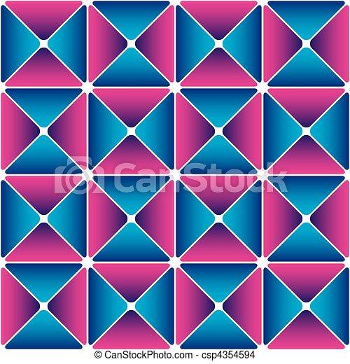 Cyan-magenta drapery pattern - csp4354594