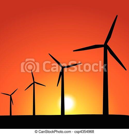 Wind Turbines - csp4354968