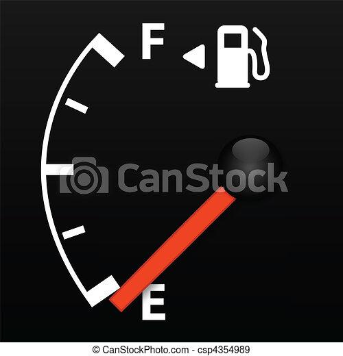 EPS Vectors of Gas Gauge - Gas gauge on empty csp4354989 - Search ...