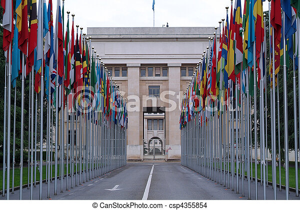 Place of United Nations in Geneva - csp4355854