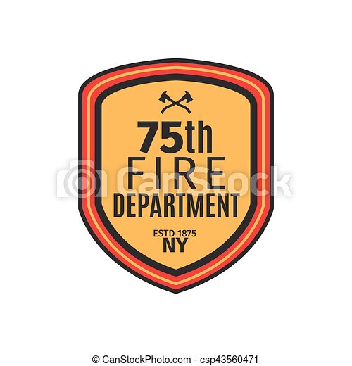 Fire department badge with shield - csp43560471