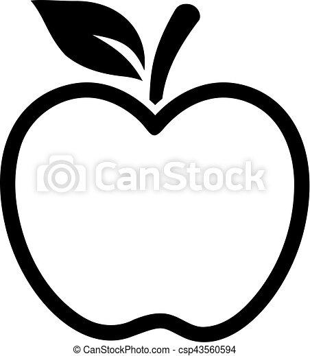 Apfel Kontur 43560594