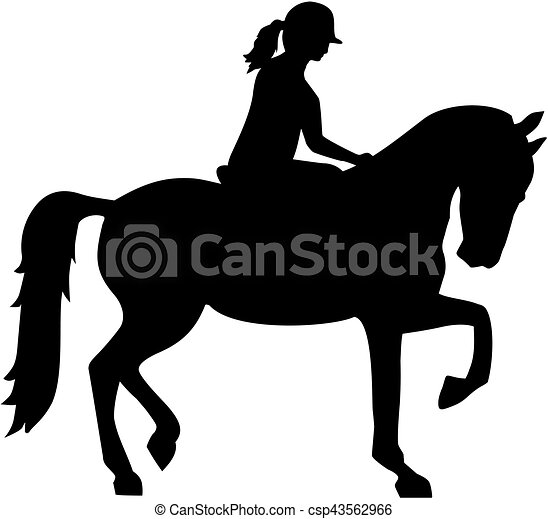 clip art vektor von reiten pferd frau silhouette