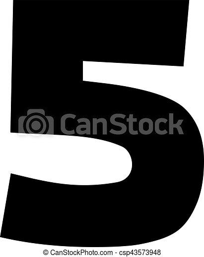Five number digits  5 - csp43573948