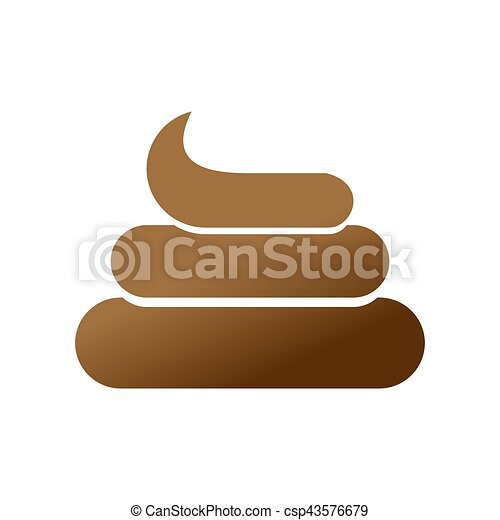 Vectors Illustration of Shit icon. Brown Turd sign. Poop symbol ...