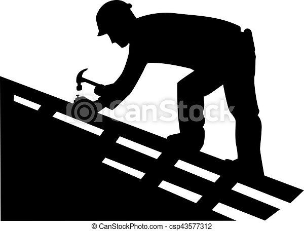 Dachdecker bilder clipart  Vektor Clipart von silhouette, dachdecker - Roofer, Silhouette ...