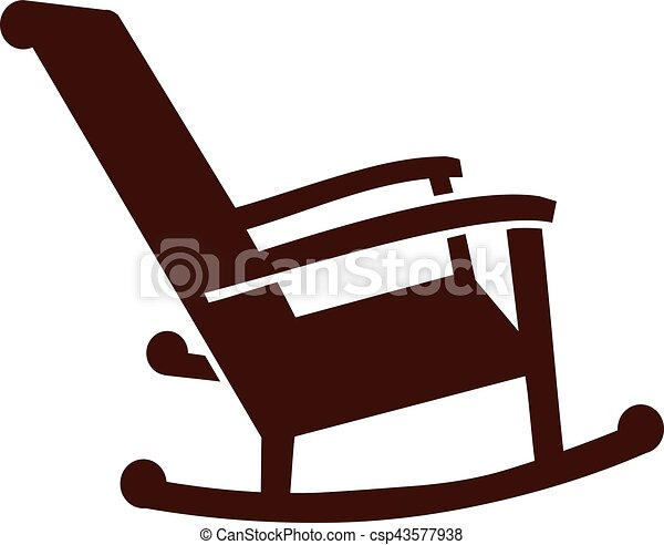 Rocking Chair Clipart vectors of rocking chair icon csp43577938 - search clip art