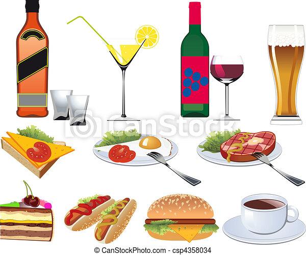 Restaurant Icons set for Menu - csp4358034