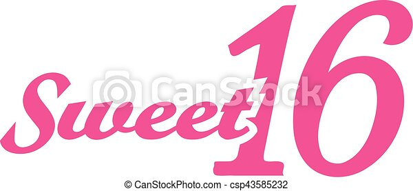 Sweet sixteen 16th birthday - csp43585232