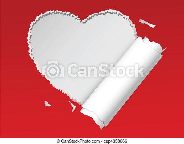 torn heart - csp4358666