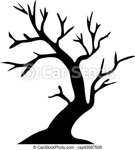 Clipart vecteur de arbre sans feuilles halloween - Arbres sans feuilles ...